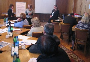 Marie Crawley & Louise O'Meara delivering Gender Training in Yerevan, Armenia